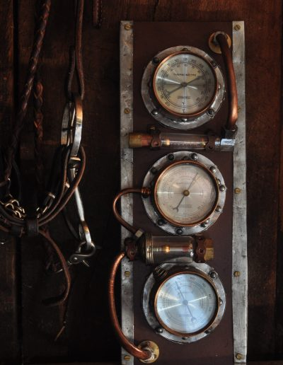 Steampunk barometer/time machine